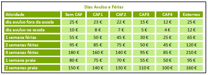 Dias Avulso e Ferias 2020/2021